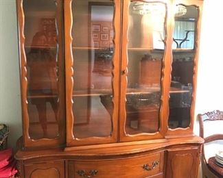 China hutch with display shelves