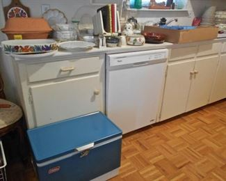 Kitchen, Vintage Blue Coleman Cooler
