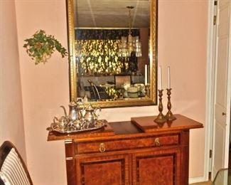 Heritage Buffet Server, Large Gilded Mirror