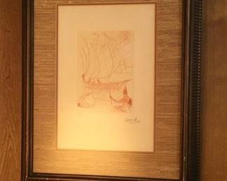 Salvador Dali - etching