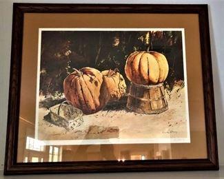"""Jack DeLoney print """"Super Pumpkin"""" # 694/1000"""