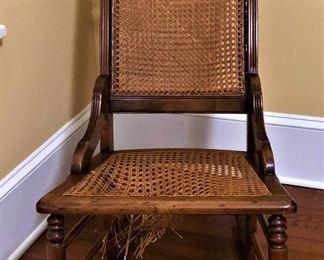 cane seat Victorian rocker