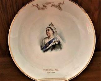Queen Victoria commemorative plate