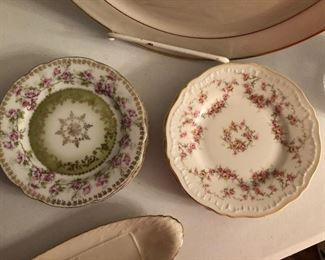 Austrian and Theodore Haviland china bread and butter plates