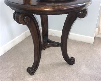 "ROUND WOODEN TABLE 25.5 diameter x 26.5"" height"