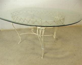Outdoor, Glasstop Table
