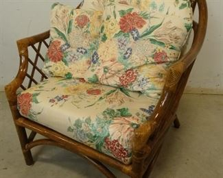 Wicker Floral Chair