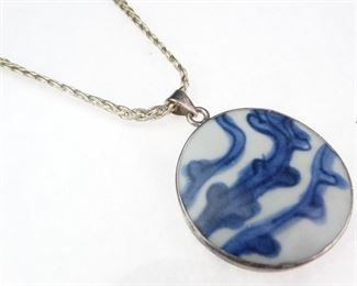 Almay 925 Sterling Silver Pendant Necklace