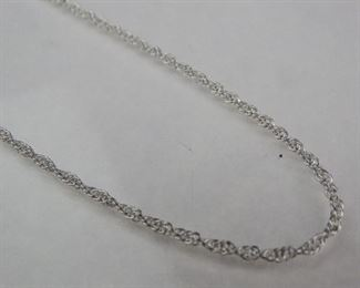 925 Sterling Silver 17 Braided Chain Link Necklace