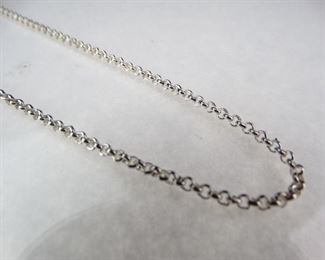925 Sterling Silver 18 Chain Link Necklace