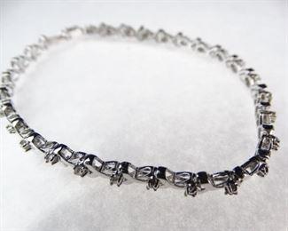Silver Diamond Tennis Bracelet