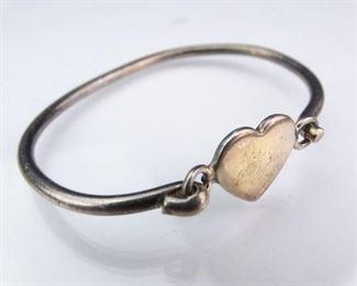 Vintage Sterling Silver Hinged Cuff Bracelet