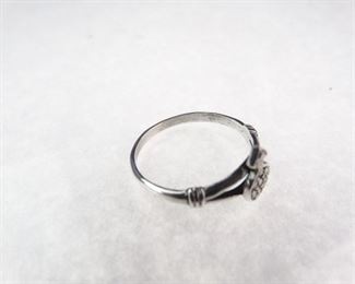 Silver & Marcasite Ring, Size 8