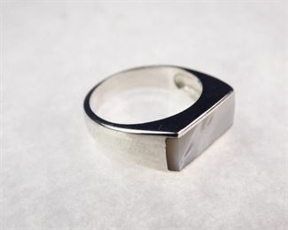 Silver & Mother-of-Pearl Ring, Size 7