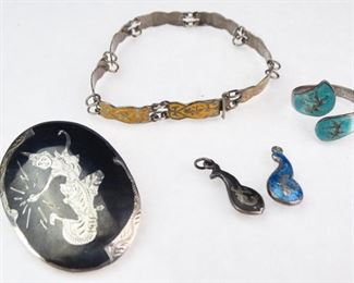 Assorted Sterling Silver Jewelry from Siam (5)