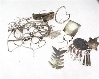 925 Sterling Silver Jewelry Scrap Pieces Mult
