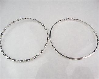 Matching Silver Bangle Bracelets
