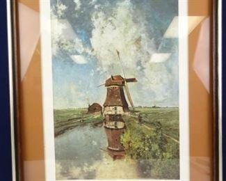 Framed Windmill Print