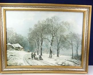 Winter Scene OilonCanvas Painting