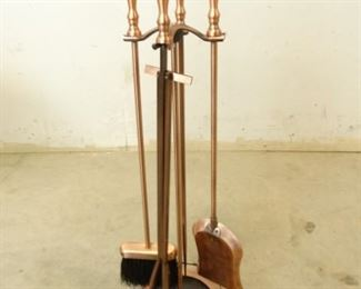 CopperHandle Fireplace Tools