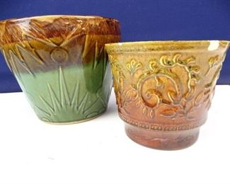 Vintage HaegerMajolica Planter Pottery Pieces