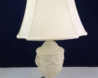 Ethan Allen Milk Glass Grecian Urn Table Lamp