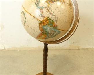 Replogle 12 World Globe on Turned Dowel Stand