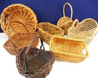 Assorted Wicker Woven Baskets