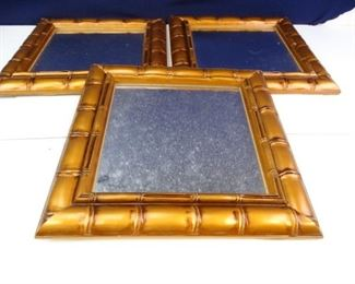 Decorative Bamboo Framed Hanging Mirrors