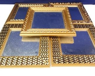 Decorative, Gold Framed Hanging Mirrors
