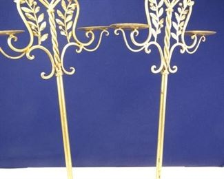Tall Brasscolored Candle Stand Set