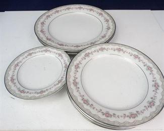 Noritake Glenwood Dinner Plates, Salad Plates, Butter Plates
