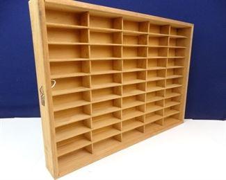 All Wood Display Shelf