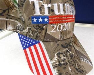 Trump 2020 Camo USA Flag Embroidered Hat