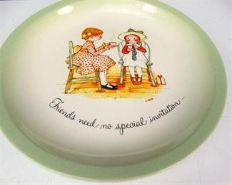 Vintage 1972 Holly Hobble Decor Plate