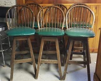 Set of 6 Vintage Bar Stools