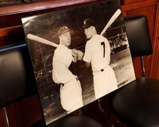 Joe DiMaggio & Mickey Mantle Photograph