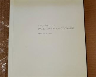 Full Detailed Book Of Jacqueline Kennedy Onassis's Estate