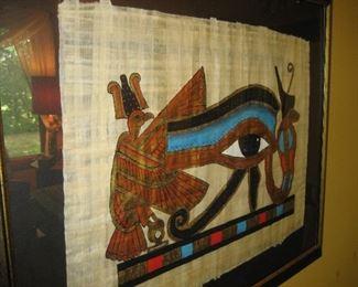 Egyptian framed art