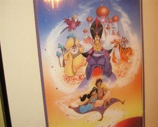 Framed Disney art