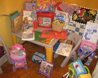 Kid's table with games and toys