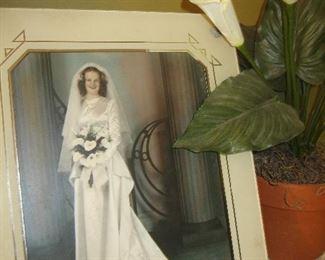 1940s wedding photo