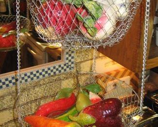 Tiered hanging vegetable holder