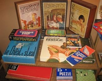 Vintage games and puzzles