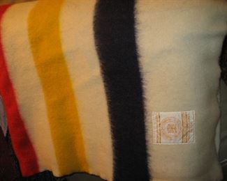 Hudson's Bay wool point blanket