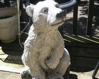 Concrete white bear