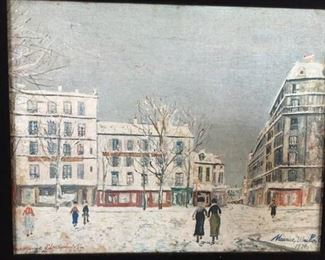 Maurice Utrillo , Oil/Canvas 1934