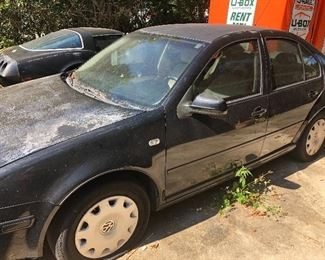2001 Volkswagen Jetta. Needs battery, needs tires, have paperwork on all work done.  Would not take much to get going  $1000