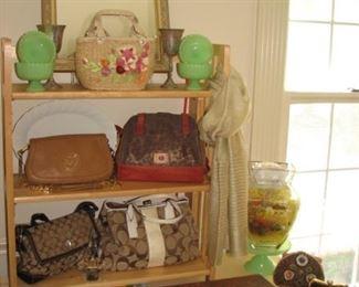 Ladies' name brand purses