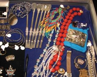 Vintage watches and sterling silver jewelry